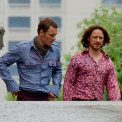 See Peter Dinklage and hippy Michael Fassbender and James McAvoy in X-Men set pics