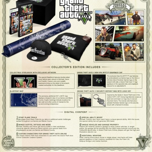 Grand Theft Auto V Special Edition and Collector's Edition announced