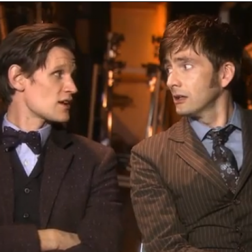 Doctor Who: Special behind the scenes with Smith and Tennant