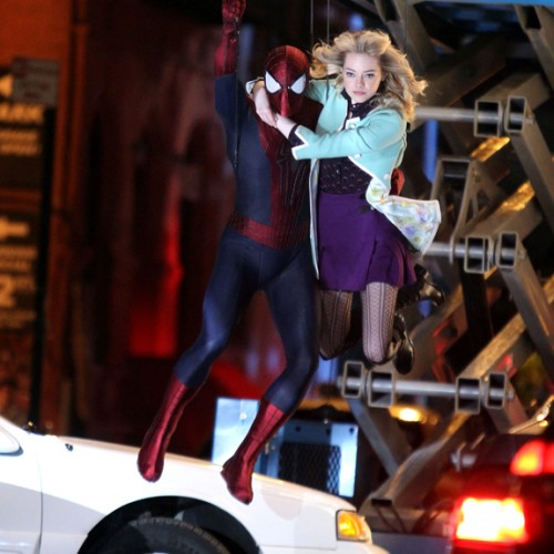 New images of Gwen and Spidey in The Amazing Spider-Man 2