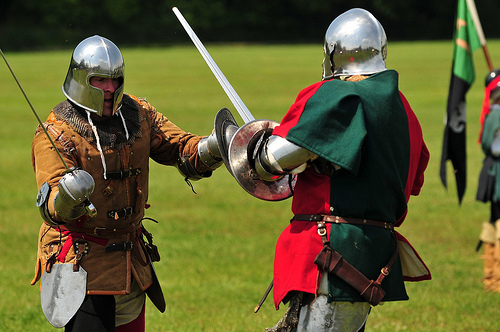 Medieval Siege Society Skirmish - Sealed Knot Battle at Loseley Park