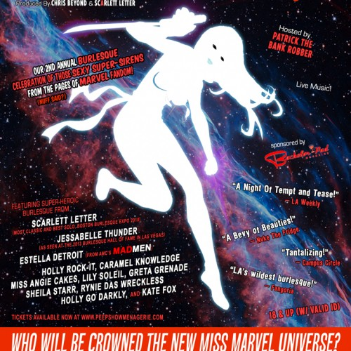 Win 2 free tickets for Marvels of Burlesque show in Los Angeles tonight!