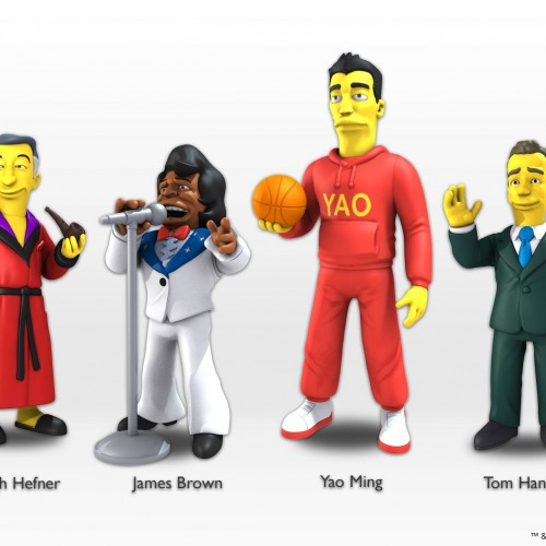 NECA reveals first five celebrities for Simpson's collection including Hugh Hefner and Tom Hanks