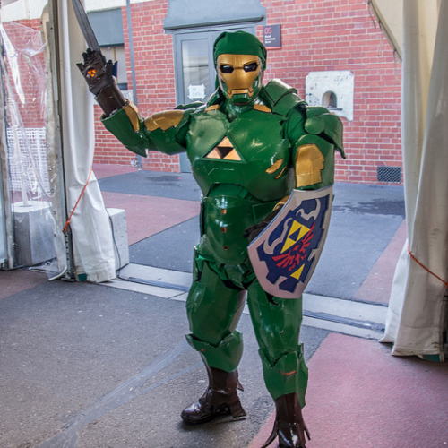 Iron Man + Link = Iron Link cosplay