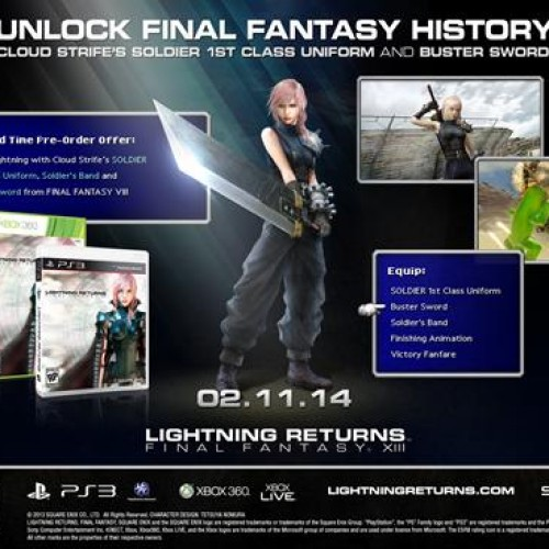 Lightning Returns: Final Fantasy XIII receiving Final Fantasy 7 Cloud bonus