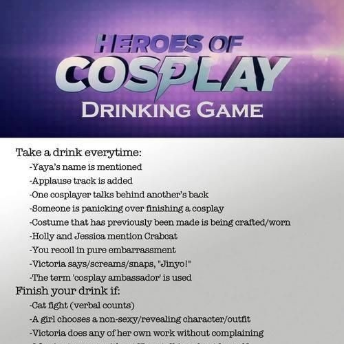 CosCast #69: Heroes of Cosplay Drinking Game Edition