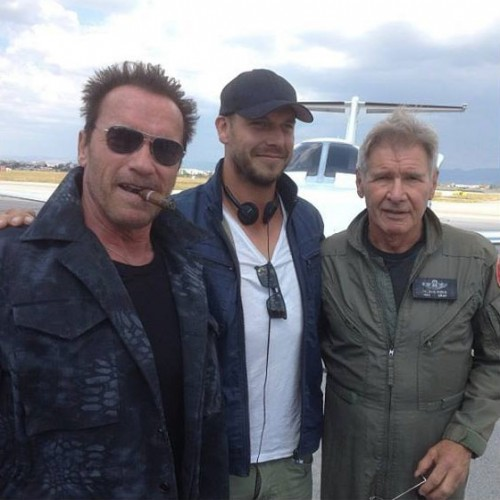 New image from Arnold on the set of Expendables 3