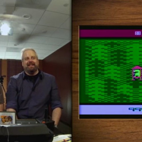 Conan O'Brien plays Atari's Pitfall, Space Invaders and ET