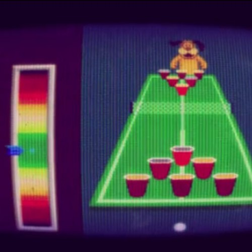 This pop music video features NES graphics and the Duck Hunt dog playing beer pong