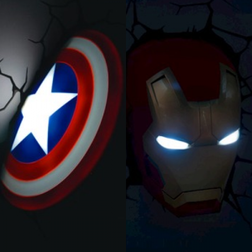 Giveaway: 3D Wall Art Avengers nightlight