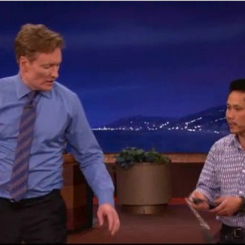 Conan O'Brien learns a thing or two about becoming a Teenage Mutant Ninja Turtle