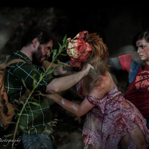 The Last of Us' with Joel, Ellie and friend (cosplay)
