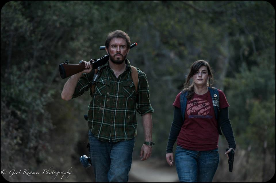 The Last Of Us With Joel Ellie And Friend Cosplay Nerd