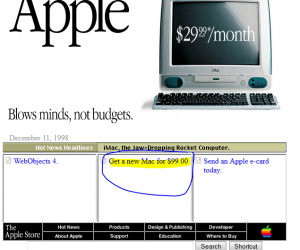 apple site in 1998