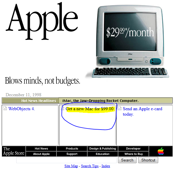 What google looked like in 1998 and other popular sites for Trading websites like craigslist