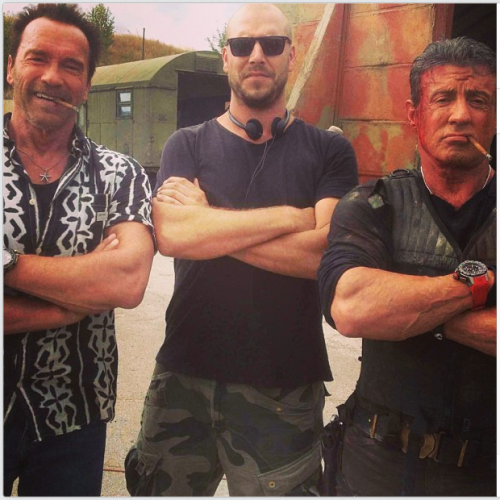 New image from The Expendables 3 set – Arnold and Sly!