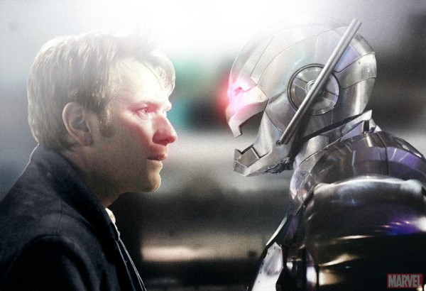 Ewan McGregor as Hank Pym (Ant-Man) face to face with Ultron