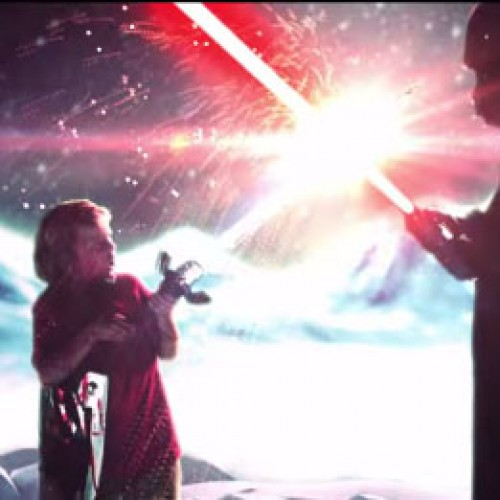 Kid's imagination brings Star Wars, Zelda and other characters to life in this short film