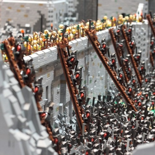 Lego version of The Lord of the Rings' Helm's Deep!