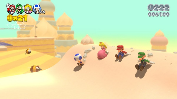 super mario 3d world sand sliding