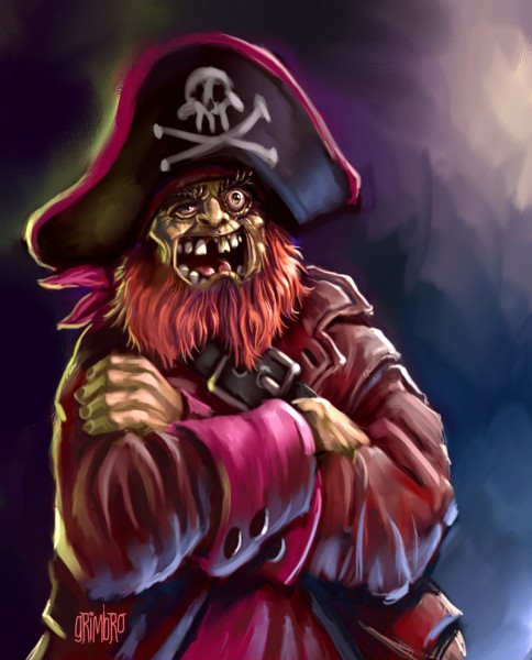 Redbeard the pirate from 'Go Away Ghost Ship' 1969 [Used with permission from GrimbRo]
