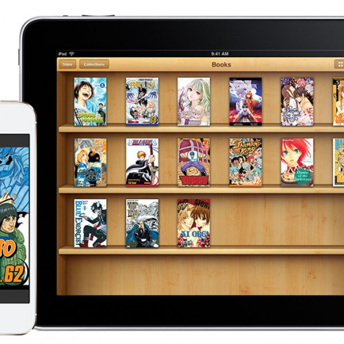 Viz Media's entire digital manga titles are now on Apple's iBooks including Naruto and Bleach
