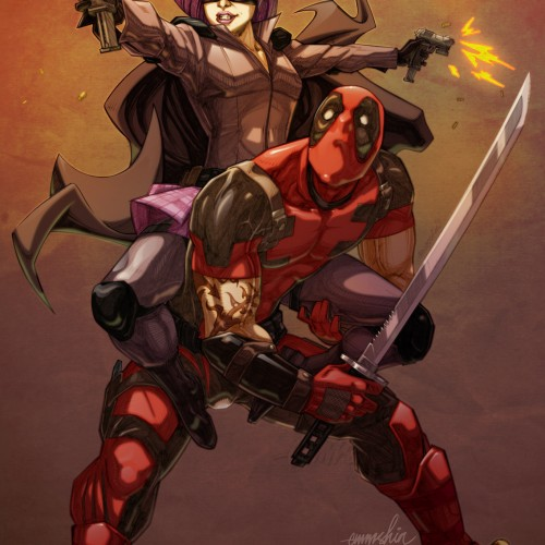 Hit-Girl and Deadpool team up for this fan art