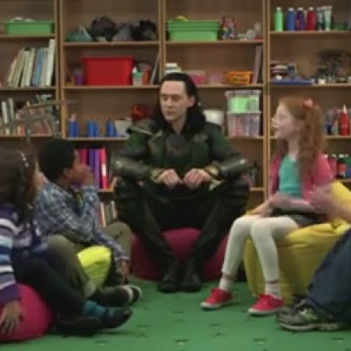 Loki hangs out with little kids
