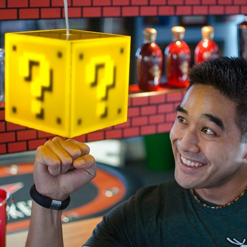 Light up your room with the Super Mario Question Block Lamp