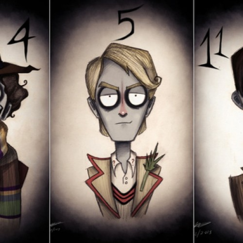 If Doctor Who crossed over with Tim Burton, we'd probably get this (art)