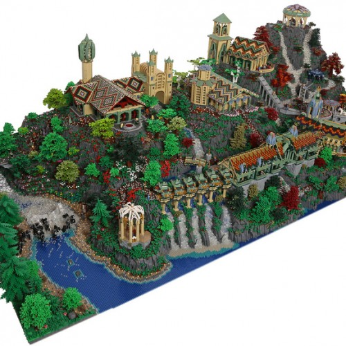 The Lord of the Ring's Rivendell brought to life by 200,000 LEGO bricks