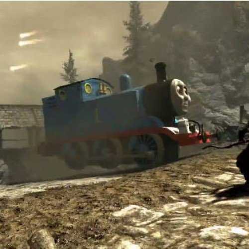 Thomas the Tank Engine terrorizes the world of Skyrim