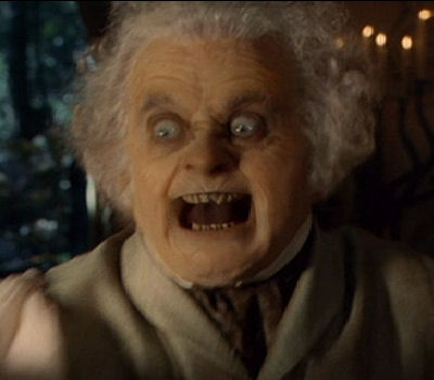 What the ring had done to Bilbo Baggins in The Lord of the Rings