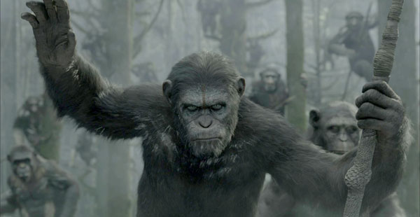 Dawn of the Planet of the Apes - Caesar and his army