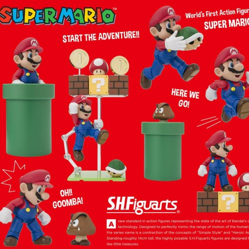 S.H. Figuarts Super Mario coming this June