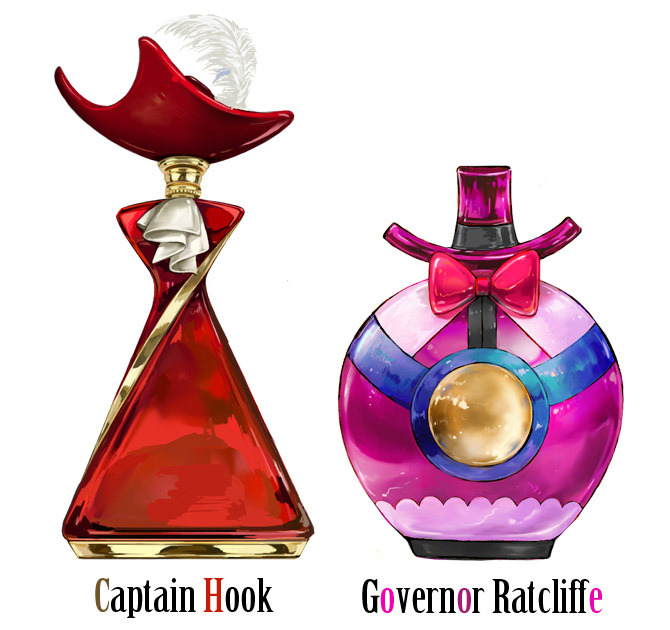 Disney Perfume - captain hook, ratcliffe
