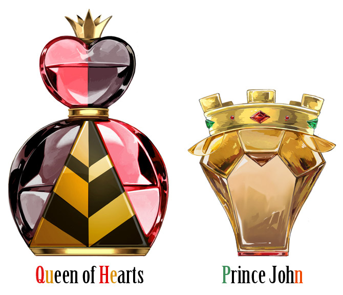 Disney Perfume - queen of hearts, prince john