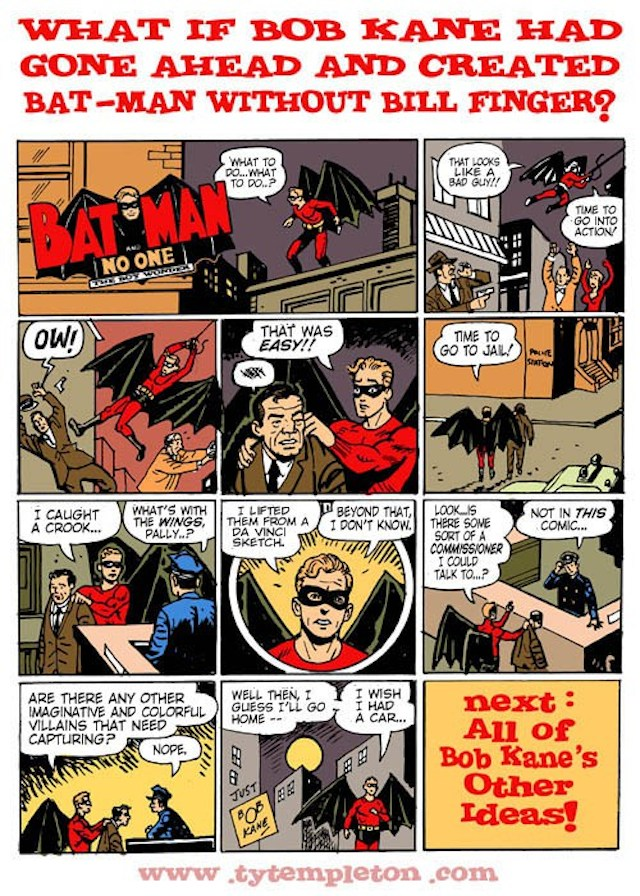 what would batman be like without bill finger nerd reactor