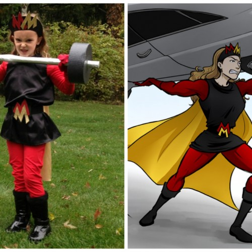 Little girls can be superheroes too!