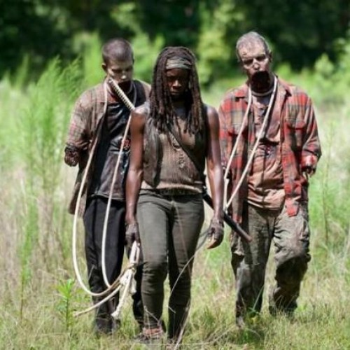 Walking Dead Season 4 pic shows Michonne back with armless zombies