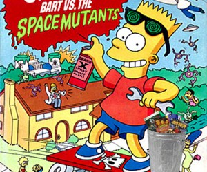 Bart vs The Space Mutants Trash Heap Image