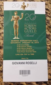 SAG_Awards_2014_ticket_Giovanni_Roselli