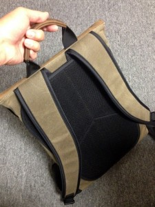 backside of staad laptop backpack