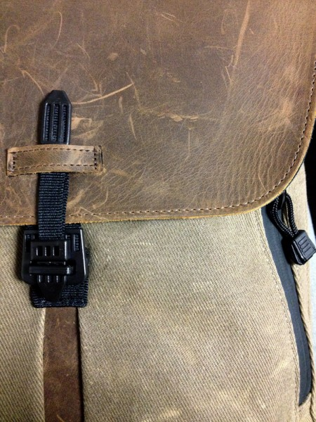 closeup shot of staad backpack slim