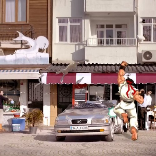Street Fighter's Ryu featured in Turkish auto insurance commercial