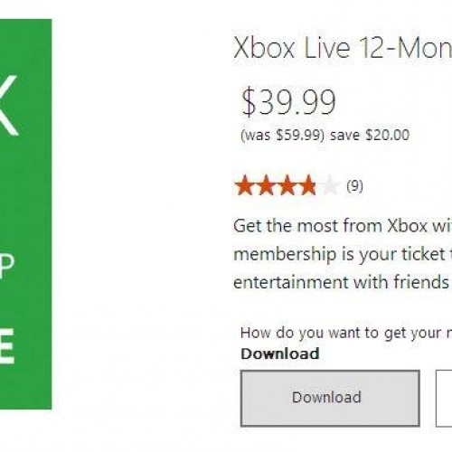 Deal Alert: 12 months of Xbox Live for $39.99