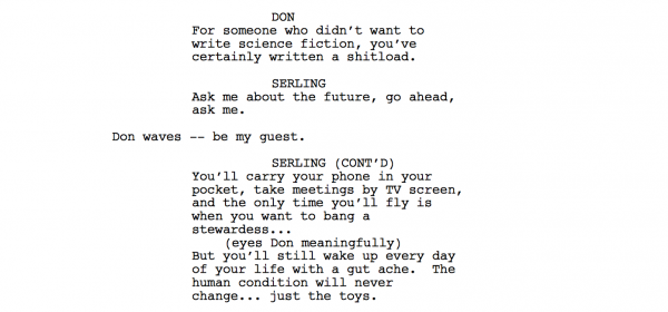 TZ Mad Men Spec