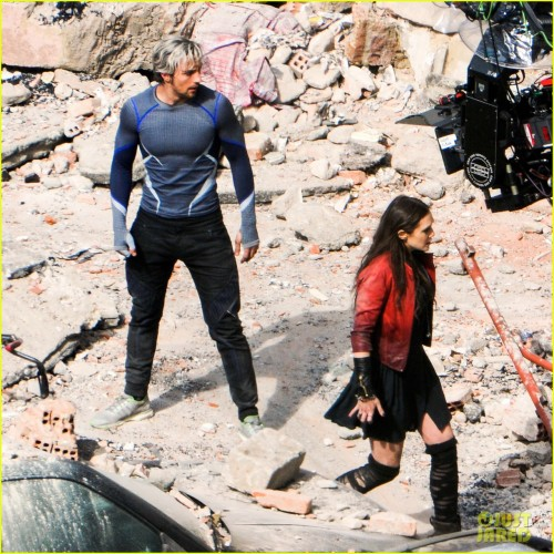 More on-set photos of Quicksilver and Scarlet Witch for Avengers: Age of Ultron