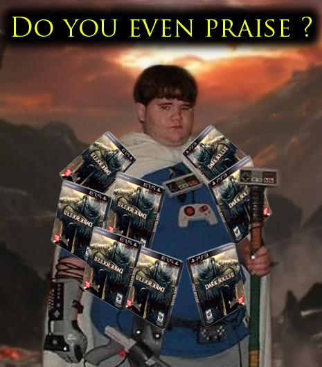 dark souls 2 black armor nerd do you even praise