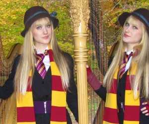 harp twins harry potter